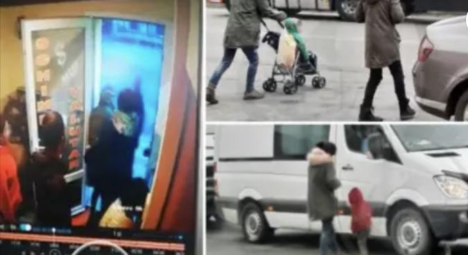 Româncă filmată când bate un copil pentru că nu a strâns suficienţi bani din cerşit, la vamă
