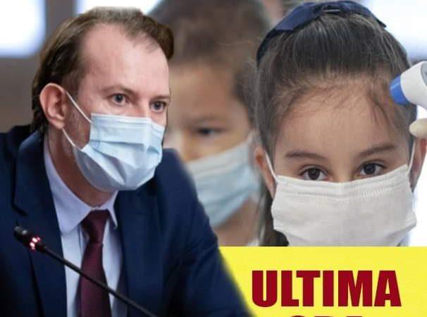 Premierul Florin Citu, anunt despre inchiderea scolilor O veste buna pentru parinti..