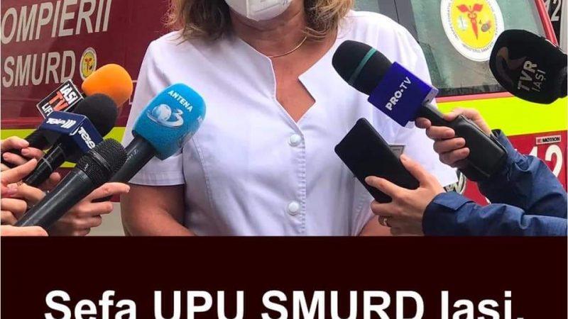 """ULTIMA ORA! Şefa UPU SMURD Iaşi, dezvăluiri şocante despre lupta cu Covid-19. """"Se poate și mai rău. Mai multe ore am ventilat manual un pacient"""""""