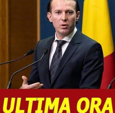 România fără Guvern. Ce a declarat Florin Cîțu